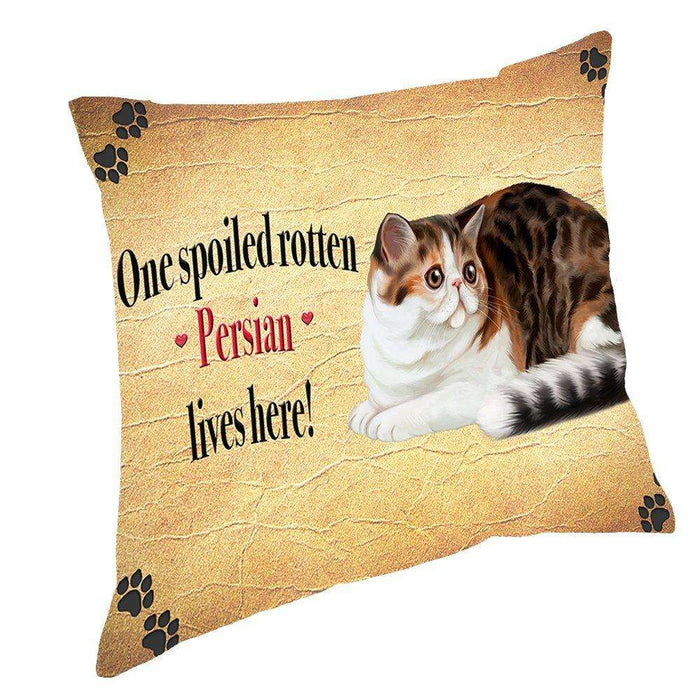 Persian Spoiled Rotten Cat Throw Pillow
