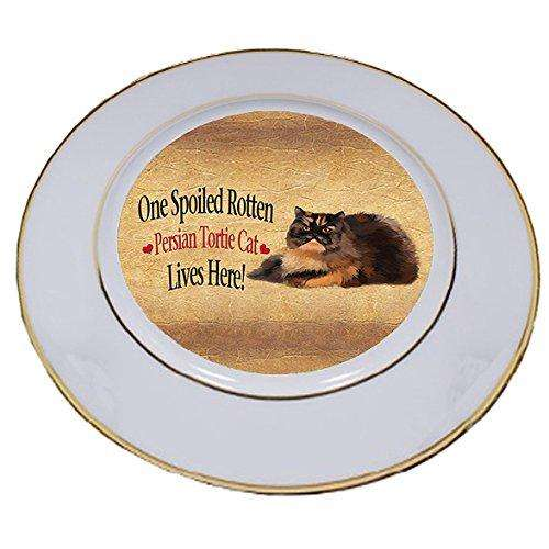 Persian Tortie Spoiled Rotten Cat Porcelain Plate