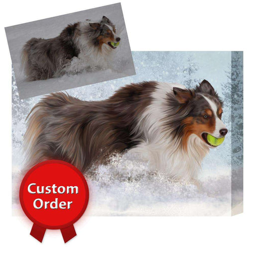 Custom Art Photo Personalized! Custom Pet Dog or Cat Art on Canvas or Digital File