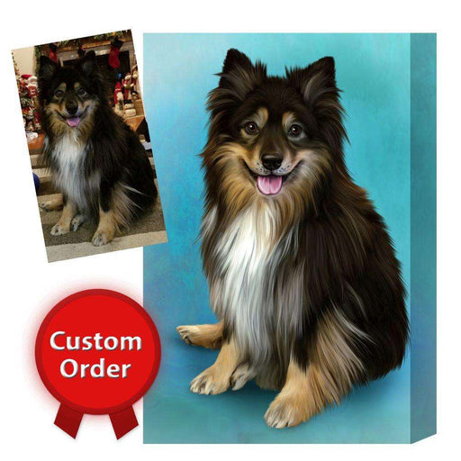 Custom Art Photo Personalized! Custom Pet Dog or Cat Art on Canvas or Digital File CVS61987
