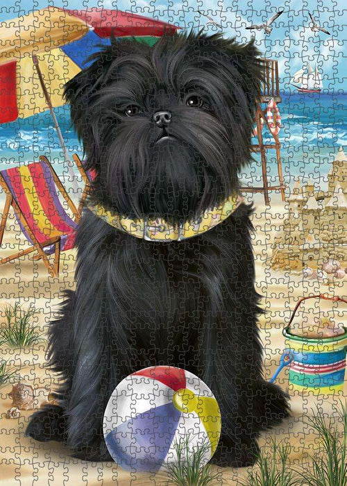 Pet Friendly Beach Affenpinscher Dog Puzzle with Photo Tin PUZL53511