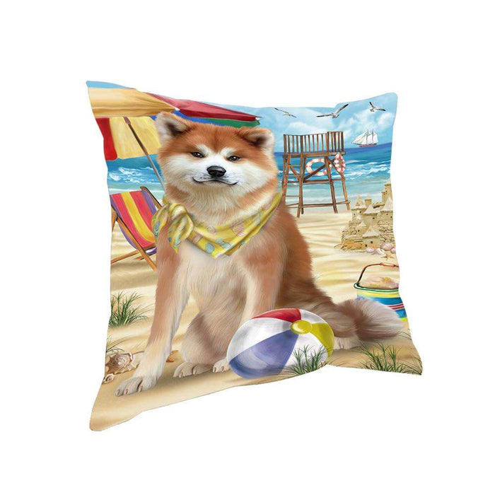 Pet Friendly Beach Akita Dog Pillow PIL55652