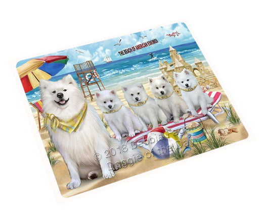 "Pet Friendly Beach American Eskimos Dog Magnet Mini (3.5"" x 2"") MAG53736"