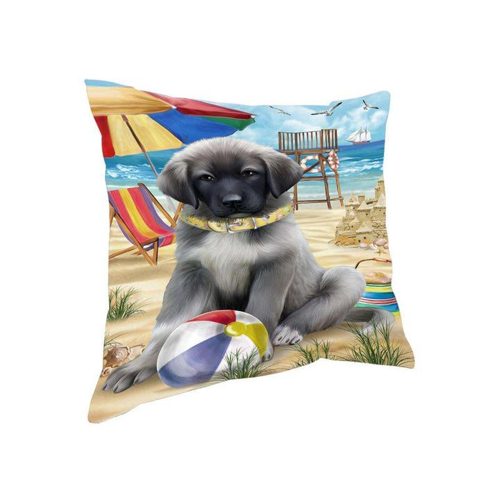 Pet Friendly Beach Anatolian Shepherd Dog Pillow PIL55740