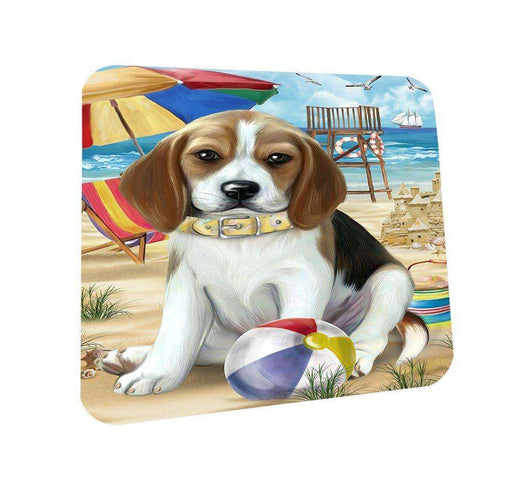Pet Friendly Beach Beagle Dog Coasters Set of 4 CST48565