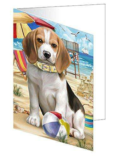 Pet Friendly Beach Beagle Dog Greeting Card GCD49844