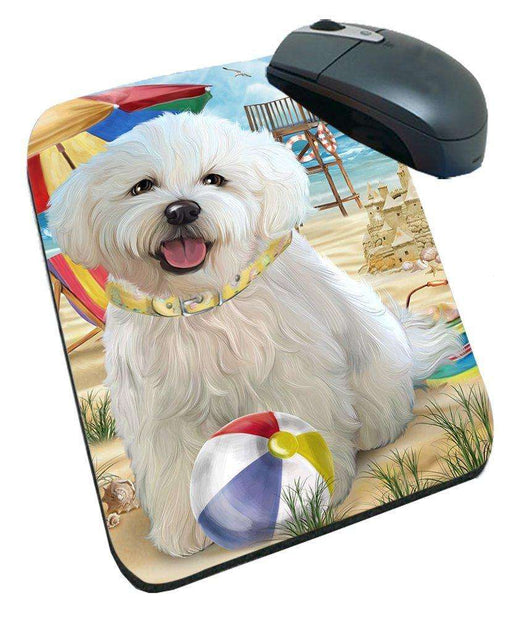 Pet Friendly Beach Bichon Frise Dog Mousepad MPD48620