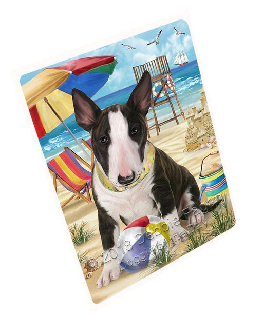 "Pet Friendly Beach Bull Terrier Dog Magnet Mini (3.5"" x 2"") MAG53904"