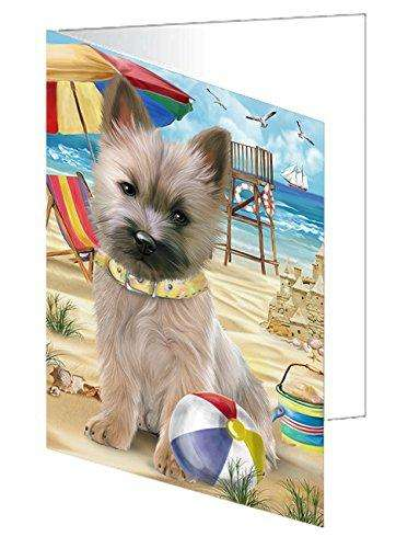 Pet Friendly Beach Cairn Terrier Dog Greeting Card GCD49919