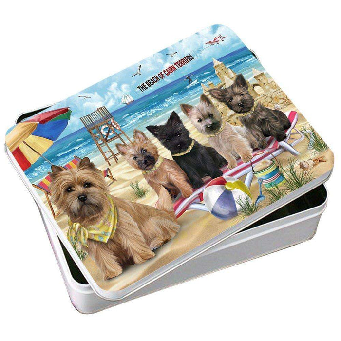 Pet Friendly Beach Cairn Terriers Dog Photo Storage Tin PITN48634