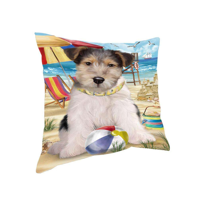 Pet Friendly Beach Fox Terrier Dog Pillow PIL56004