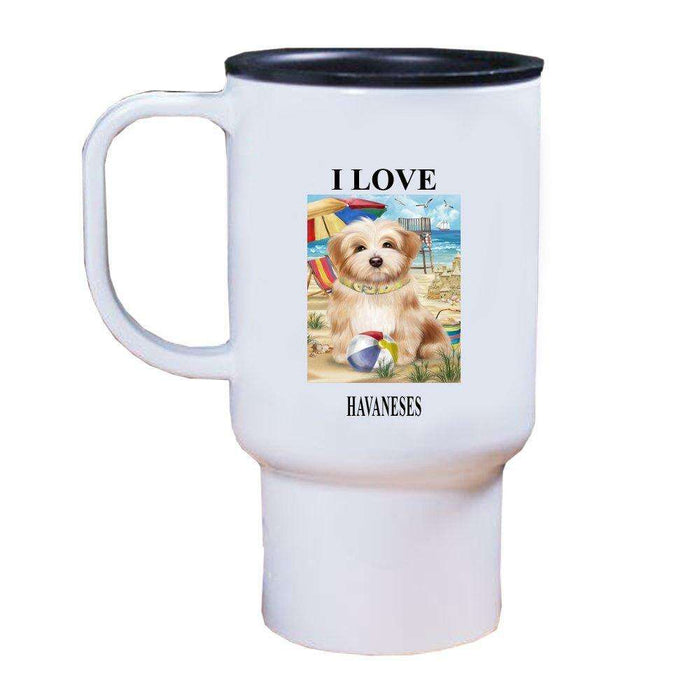 Pet Friendly Beach Havanese Dog Travel Mug TRAV48381