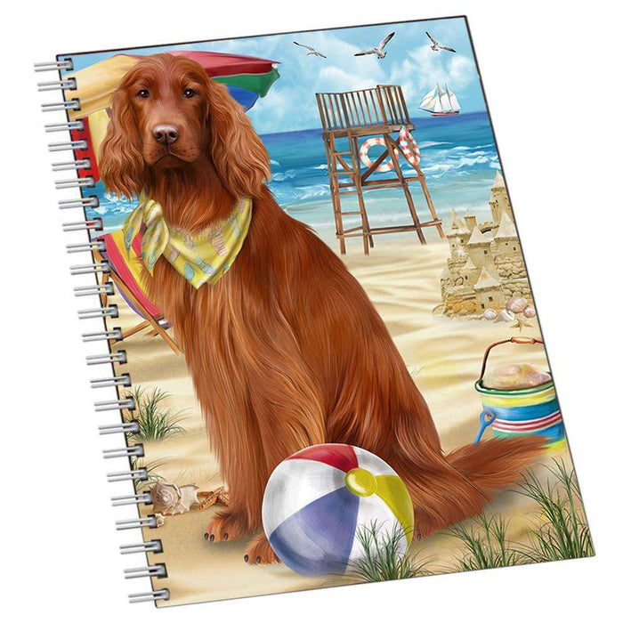 Pet Friendly Beach Irish Setter Dog Notebook NTB50773