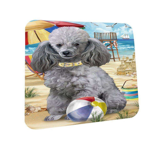 Pet Friendly Beach Poodle Dog Coasters Set of 4 CST48625