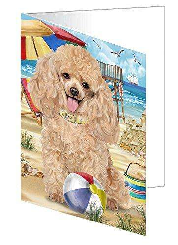 Pet Friendly Beach Poodle Dog Note Card NCD50033