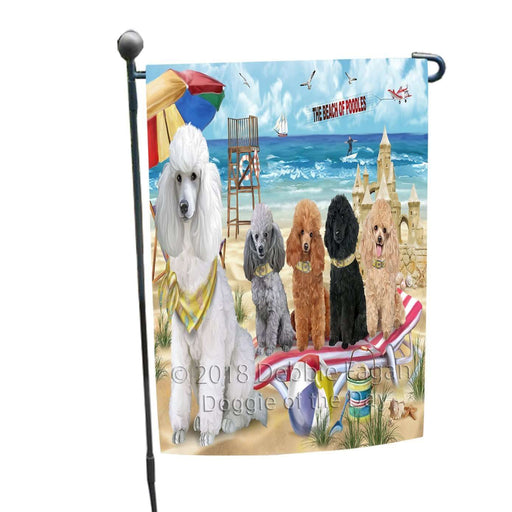 Pet Friendly Beach Poodles Dog Garden Flag GFLG48574