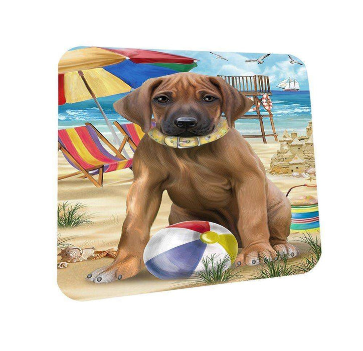 Pet Friendly Beach Rhodesian Ridgeback Dog Coasters Set of 4 CST48633