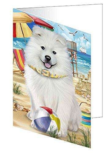 Pet Friendly Beach Samoyed Dog Greeting Card GCD50090