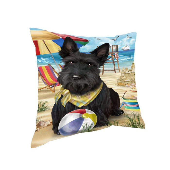 Pet Friendly Beach Scottish Terrier Dog Pillow PIL56204
