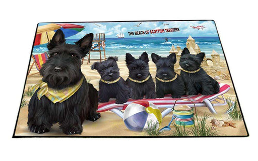 Pet Friendly Beach Scottish Terriers Dog Floormat FLMS50280