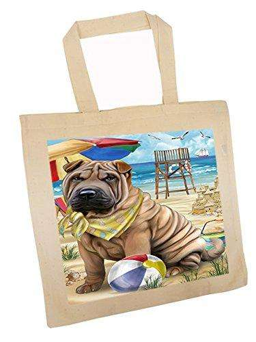 Pet Friendly Beach Shar Pei Dog Tote TTE48694