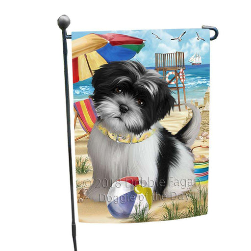Pet Friendly Beach Shih Tzu Dog Garden Flag GFLG49927