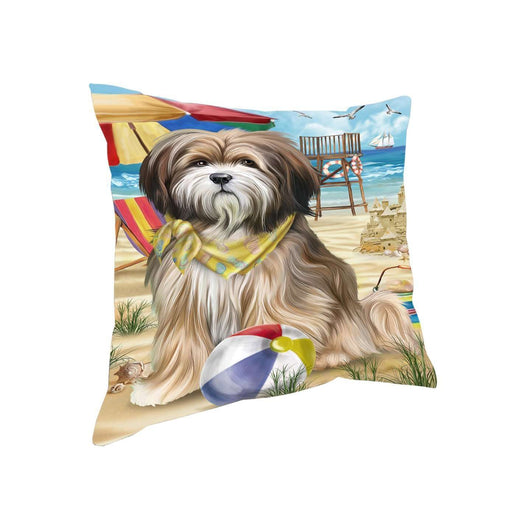 Pet Friendly Beach Tibetan Terrier Dog Pillow PIL50680