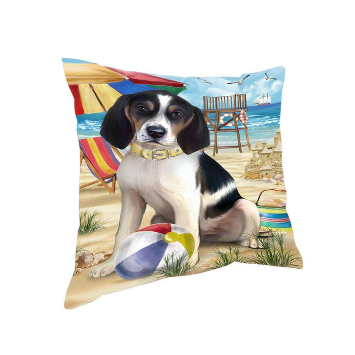 Pet Friendly Beach Treeing Walker Coonhound Dog Pillow PIL56260