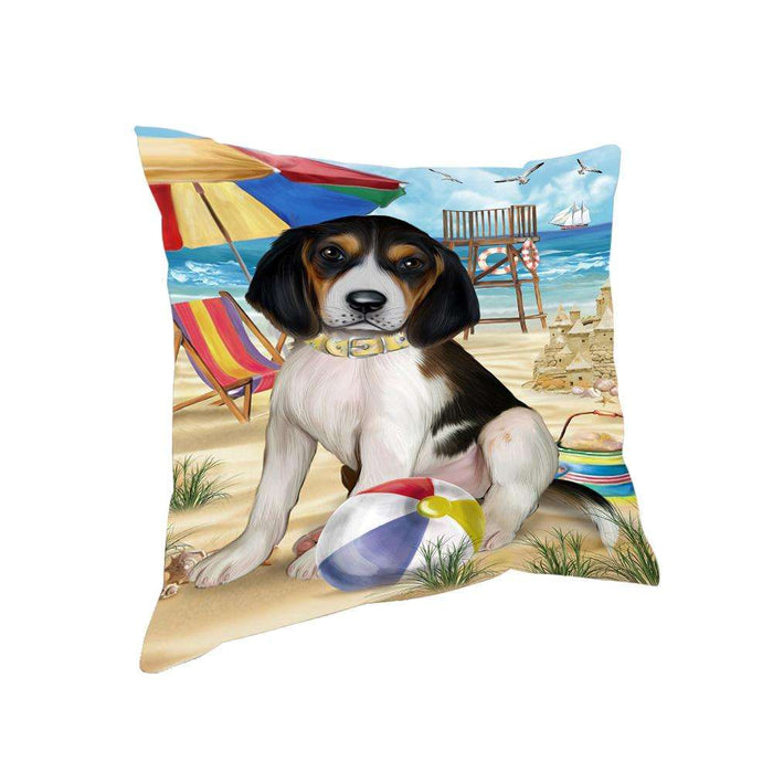 Pet Friendly Beach Treeing Walker Coonhound Dog Pillow PIL56268