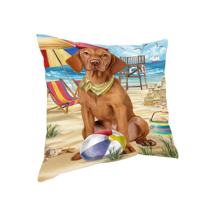 Pet Friendly Beach Vizsla Dog Pillow PIL56300
