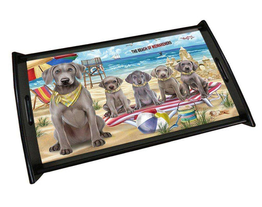 Pet Friendly Beach Weimaraners Dog Wood Serving Tray TRP48165