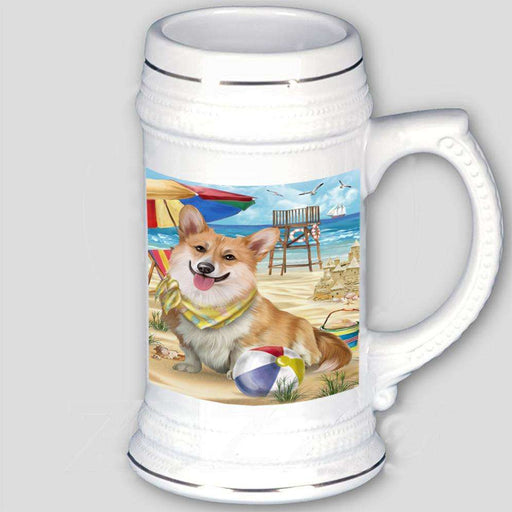 Pet Friendly Beach Welsh Corgi Dog Beer Stein BST481980