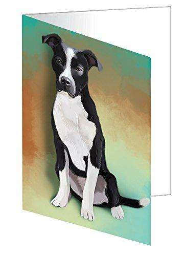 Pit Bull Dog Greeting Card