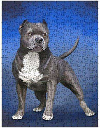 Pit Bull Dog Puzzle with Photo Tin