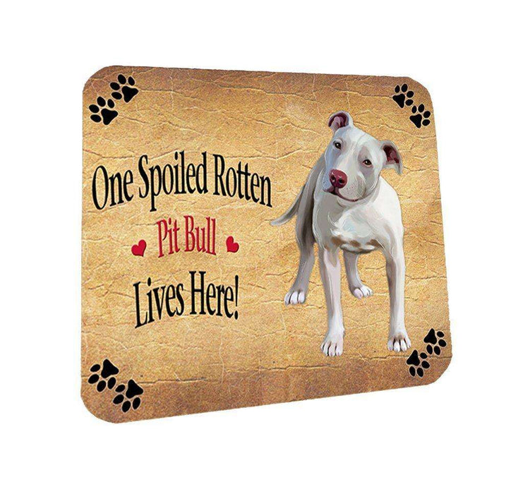 Pit Bull Spoiled Rotten Dog Coasters Set of 4