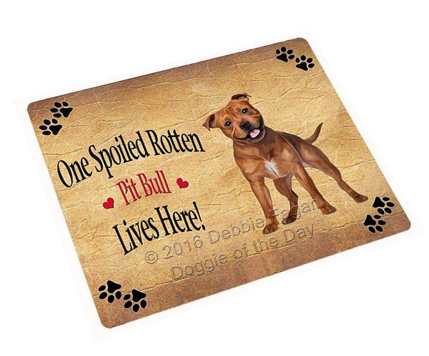 "Pit Bull Spoiled Rotten Dog Magnet Small (5.5"" x 4.25"")"