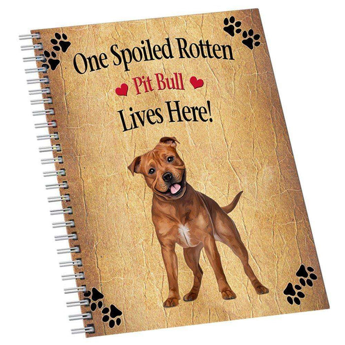 Pit Bull Spoiled Rotten Dog Notebook