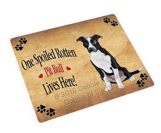 Pit Bull Spoiled Rotten Dog Tempered Cutting Board