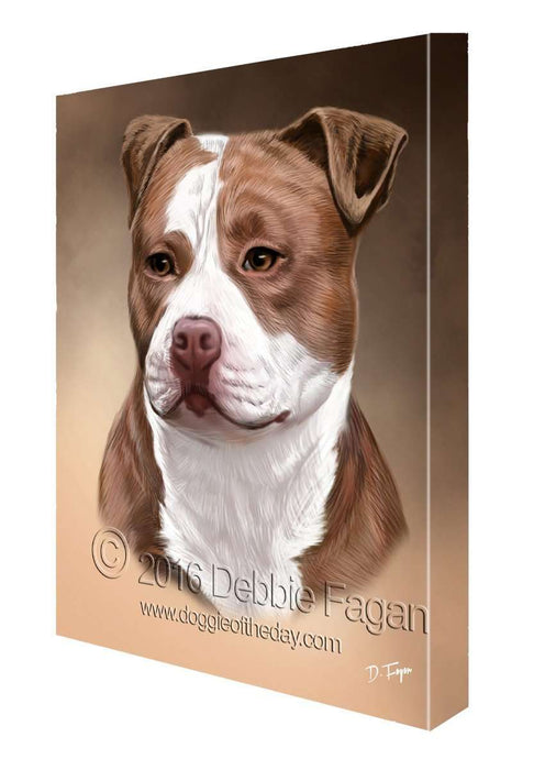 Pitbull Dog Art Portrait Print Canvas