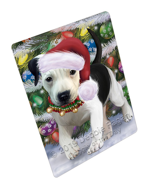 Trotting in the Snow Pitbull Dog Refrigerator / Dishwasher Magnet RMAG108390