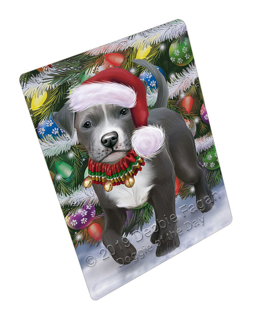 Trotting in the Snow Pitbull Dog Refrigerator / Dishwasher Magnet RMAG108396