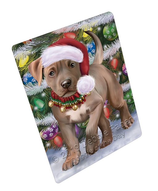 Trotting in the Snow Pitbull Dog Refrigerator / Dishwasher Magnet RMAG108402