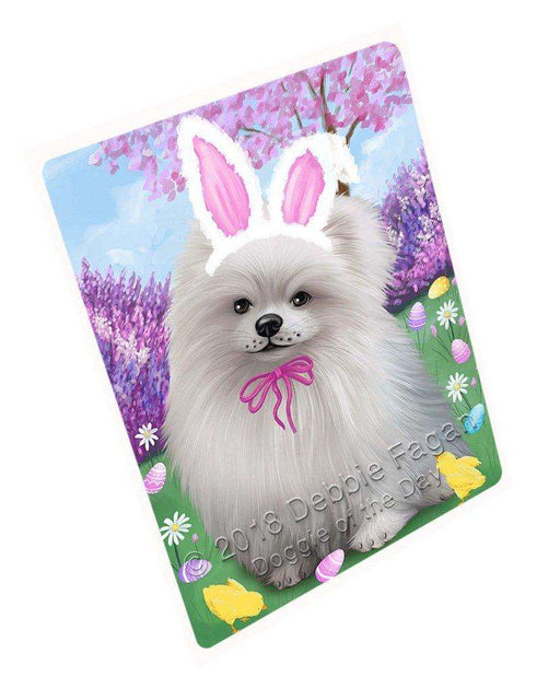 Pomeranian Dog Easter Holiday Large Refrigerator / Dishwasher Magnet RMAG55818