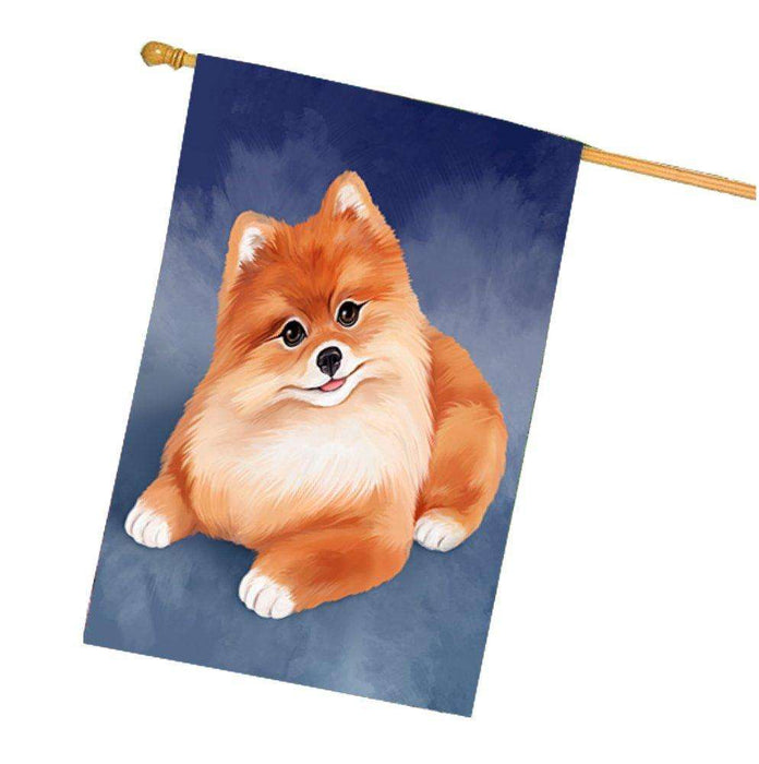Pomeranian Dog House Flag FLGA48048