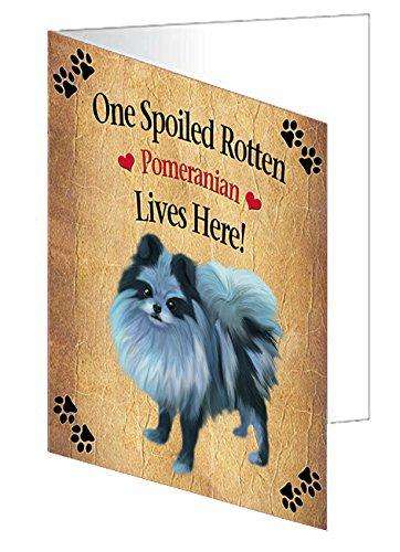 Pomeranian Spoiled Rotten Dog Greeting Card