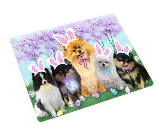 Pomeranians Dog Easter Holiday Large Refrigerator / Dishwasher Magnet RMAG55806