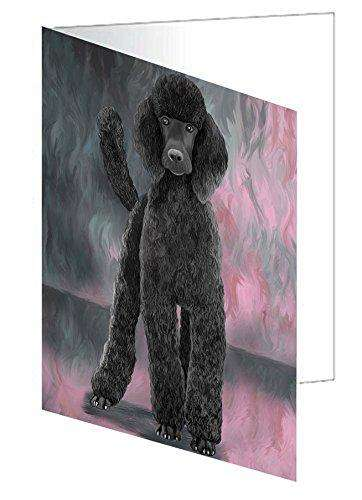 Poodle Black Dog Greeting Card