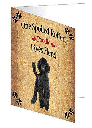 Poodle Black Spoiled Rotten Dog Greeting Card