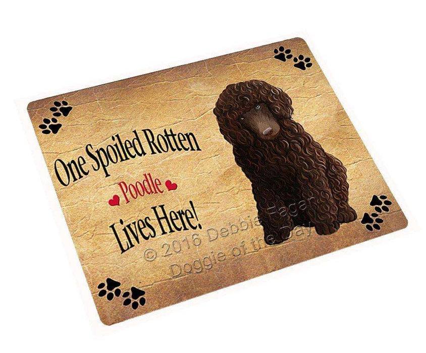 "Poodle Brown Spoiled Rotten Dog Magnet Mini (3.5"" x 2"")"