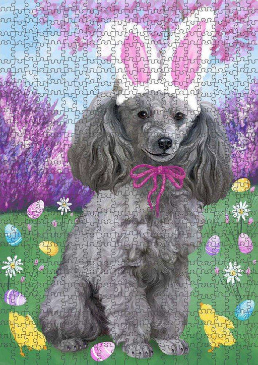 Poodle Dog Easter Holiday Puzzle with Photo Tin PUZL51600